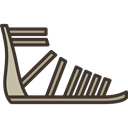 Summertime, footwear, sandals, Clothes, fashion, clothing Black icon