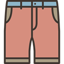 Shorts, trousers, Clothes, fashion, pants, Garment DarkSalmon icon