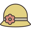 Femenine, Bonnet, clothing, fashion, hat, Garment Khaki icon