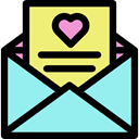 Wedding Invitation, envelope, mail, Letter Icon