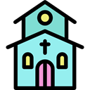religion, Chapel, temple, christian, buildings, church Black icon