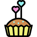 baked, food, muffin, Dessert, cupcake, sweet, Bakery Black icon