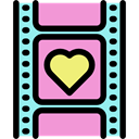 film, Wedding Video, romantic, Heart, love, memories Plum icon