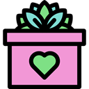 Wedding Gift, surprise, present Plum icon