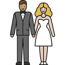 groom, woman, Family, Newlyweds, Bride, love, wedding, Man, people Black icon