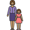 people, Motherhood, Family, Single Mother, love, daughter, woman Black icon
