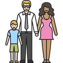 Stepmother, son, love, Family, people, father Black icon