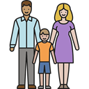 Family, son, people, Child, Parenthood, Couple, love, Boy Black icon