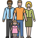 daughter, Boy, son, Parenthood, Couple, Family, love, Child, people Black icon
