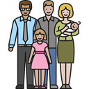 Parenthood, baby, people, Family, love, Boy, children, daughter, son, Couple Black icon