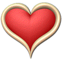 Heart, cookie Red icon