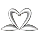 Heart, swan Black icon