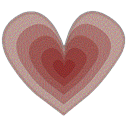 Heart, transparent Gray icon
