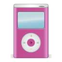 Apple, ipod, pink, festival PaleVioletRed icon
