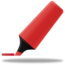 highlightmarker, red Black icon