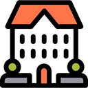 Construction, residential, real estate, buildings, Resident, property, Home Black icon