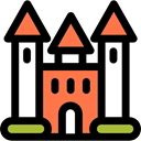 Castle, buildings, real estate, Construction, residential, medieval, Home, property Black icon