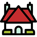 residential, Construction, Cottage, real estate, buildings, Home, house, property Black icon