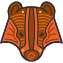 tribal, Animals, badger, Indigenous, head, wildlife, mammal SaddleBrown icon