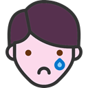 feelings, Heads, emoticons, people, Boy, faces, Disappointment DarkSlateGray icon