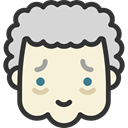 faces, Emotion, Granny, Heads, feelings, people, emoticons Beige icon