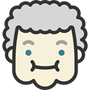 emoticons, Heads, feelings, faces, people, Embarrassed, Granny Beige icon