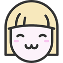 people, Girl, faces, happy, Heads, feelings, emoticons LavenderBlush icon