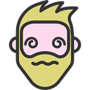 Beard, people, Facial Hair, hipster, emoticons, Heads, feelings, Confused, faces DarkSlateGray icon