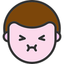 Heads, people, Boy, faces, shy, feelings, emoticons MistyRose icon