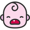 people, baby, emoticons, Cry, Heads, faces, feelings MistyRose icon