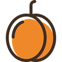 Peach, diet, organic, Healthy Food, Fruit, vegetarian, food, vegan Goldenrod icon