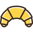 Bakery, food, Breads, croissant, Croissants, french, Bread, baked SandyBrown icon