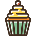 muffin, food, Dessert, Bakery, sweet, baked, cupcake DarkSlateGray icon