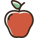 vegetarian, Fruit, Healthy Food, diet, organic, food, vegan, Apple IndianRed icon