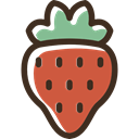 vegetarian, vegan, Fruit, strawberry, organic, Healthy Food, food IndianRed icon