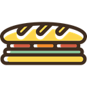 sandwich, food, Bread, meal, Lunch, snack DarkSlateGray icon