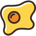 protein, food, fried egg, organic SandyBrown icon