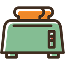 Toaster, toast, breakfast, Bakery, Tools And Utensils, Breads DarkSeaGreen icon