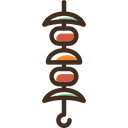 protein, meat, food, nutrition, Brochette, Barbecue Black icon