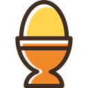 protein, fried egg, organic, Boiled Egg, food Black icon