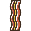 food, grilled, Barbecue, Bacon, meat, Proteins Black icon