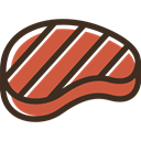 grilled, Barbecue, meat, Proteins, food, steak DarkSlateGray icon