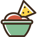 food, snack, junk food, Fast food, Nachos, Mexico, Mexican DarkSlateGray icon