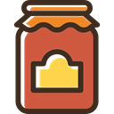 Jelly, food, Jar, sweet, marmalade, covered, Fruit, Container DarkSlateGray icon
