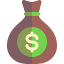 Money, Bank, Dollar Symbol, Currency, money bag, Business, banking DimGray icon
