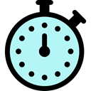 time, stopwatch, Chronometer, Wait, timer, Tools And Utensils PaleTurquoise icon