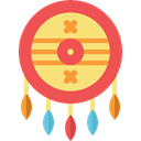 defense, Native American, Protection, shield, weapons Tomato icon