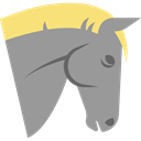 Animals, Animal, equine, horse, mammal DarkGray icon