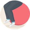 fitness, Gymnastics, Stretching, sports, Ball Salmon icon