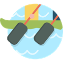 sports, water, Boat, training, rowing PaleTurquoise icon